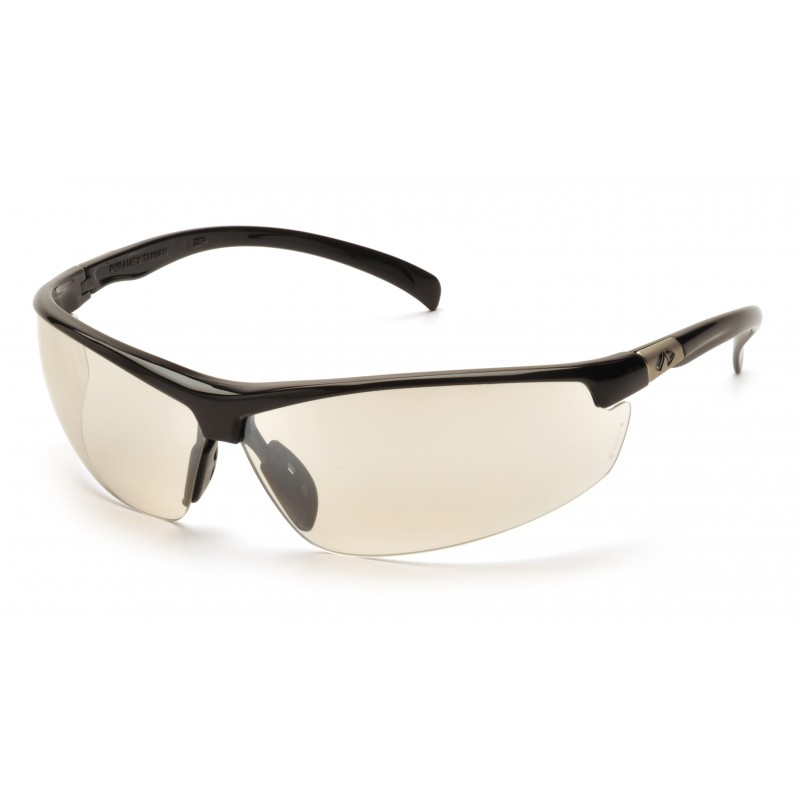 Pyramex Safety - Forum - Black Frame/Indoor/Outdoor Mirror Lens Polycarbonate Safety Glasses - 12 / BX