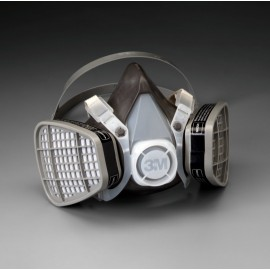 3M™ Half Facepiece Disposable Respirator Assembly 5303, Organic Vapor/Acid Gas, Large