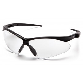 Pyramex PMXTREME Readers - Black Frame/Clear +2.0 Reader Lens with Black Cord Polycarbonate Safety Glasses - 6 / BX