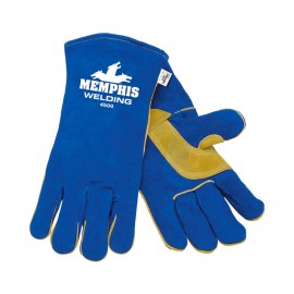MCR 4500 Split Cow Blue Welders Gloves