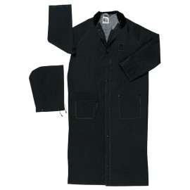 "MCR River City .35mm 60"" Rider Coat  Detachable Hood Black (1 Each)"