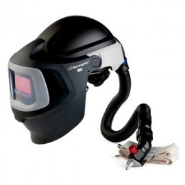 3M™ Speedglas™ Fresh-Air III Supplied Air System with V-300 Air-Regulating Valve and 3M™ Speedglas™ Welding Helmet 9100MP, 27-5902-10SW, with Hard Hat, SideWindows and Auto-Darkening Filter 9100V, Shades 5, 8-13