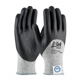 PIP 19-D355/S G-Tek Seamless Knit Dyneema Diamond Blended Glove with Nitrile Coated Foam Grip on Palm, Fingers & Knuckles Small 6 DZ
