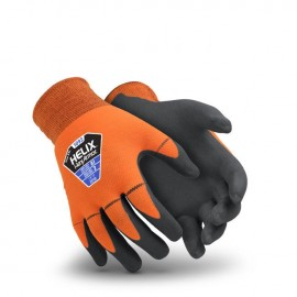 HexArmor 1092-L (9) Helix Seamless Work Glove Orange 1 Pair