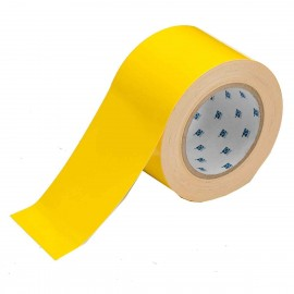 "Brady ToughStripe Floor Marking Tape Roll Polyester Solid  Yellow 3"" x 100'"