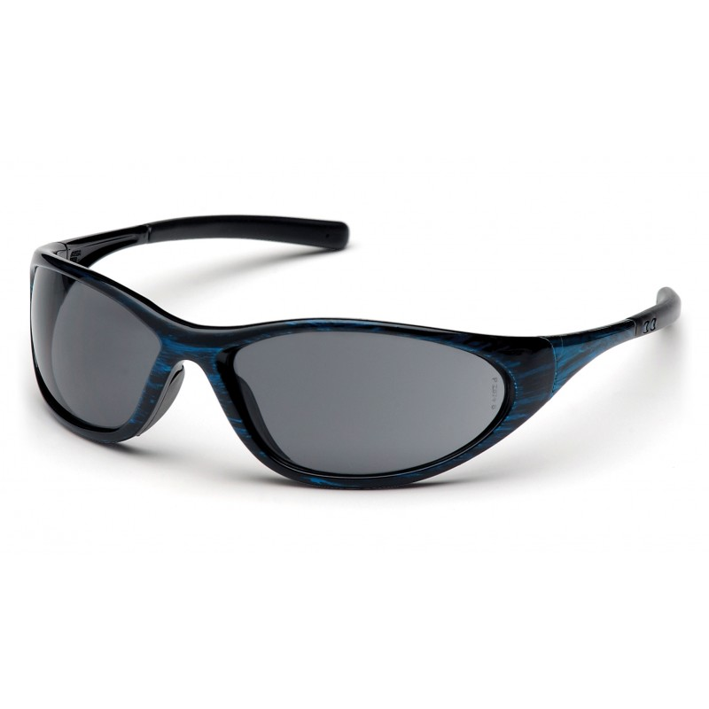 Pyramex Safety - Zone II - Blue Wood Frame/Gray Lens Polycarbonate Safety Glasses - 12 / BX
