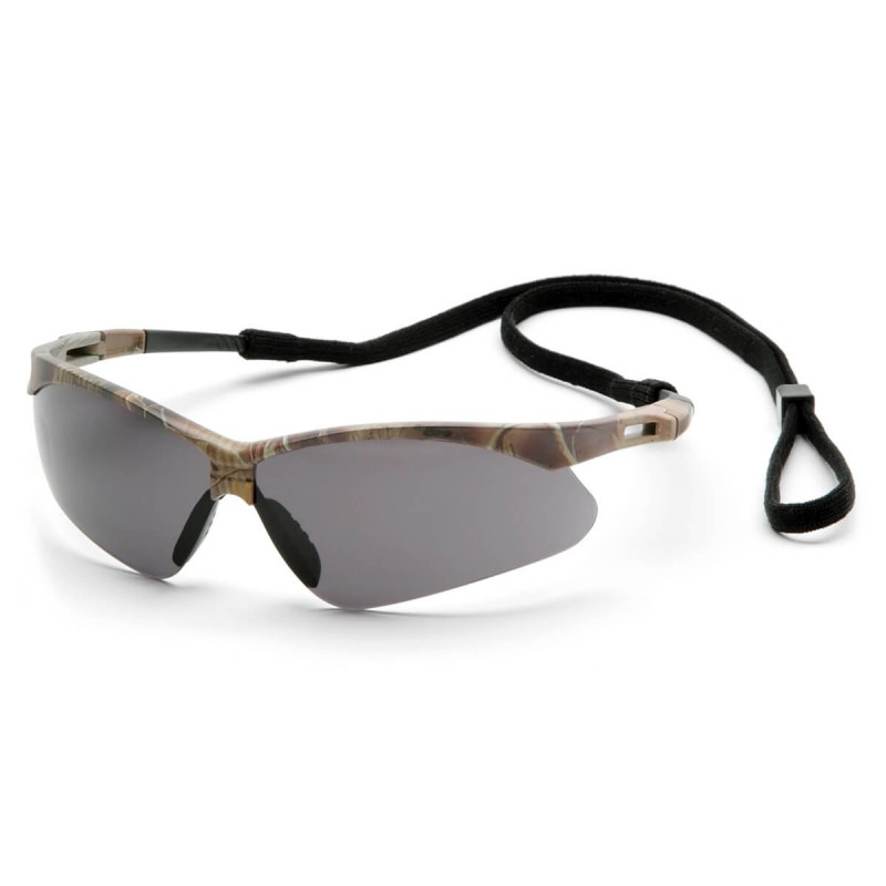 Pyramex Safety - PMXTREME - Camo Frame/Gray Anti-Fog Lens with Black Cord Polycarbonate Safety Glasses - 12 / BX