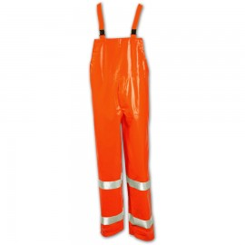 Tingley O42129.3X Electra Overall Fluorescent Orange-Red  Snap Fly Front Silver Reflective Tape