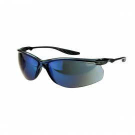 Radians 24Seven Blue Mirror Black Safety Glasses Frameless Blue Mirror 12 PR/Box