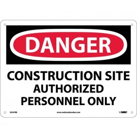 NMC D247RB Danger Construction Site Sign 10x14