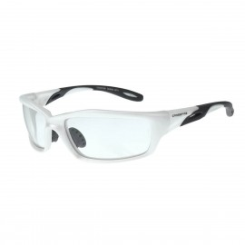 Radians Infinity Clear White Frame Safety Glasses White 12 PR/Box