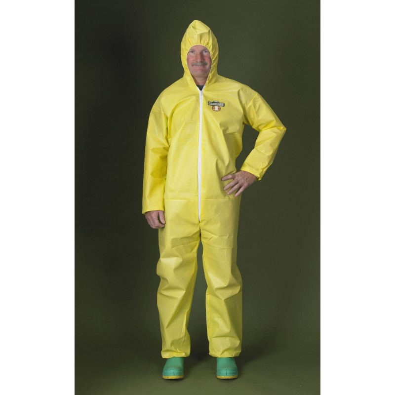 Lakeland C1B428Y ChemMax 1 Coverall - Bound Seam - Attached Hood & Elastic (25 Per Case)