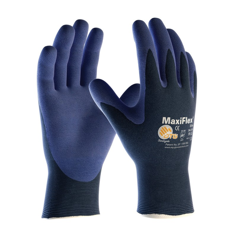 PIP 34-274/S ATG Ultra Light Weight Seamless Knit Nylon Glove with Nitrile Coated MicroFoam Grip on Palm & Fingers Small 12 DZ