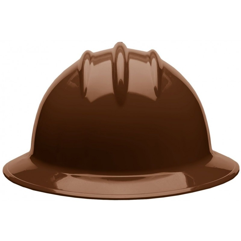 Bullard C33 33CBR 6pt Ratchet Classic Full Brim Style Chocolate Brown Hard Hat 20/Case