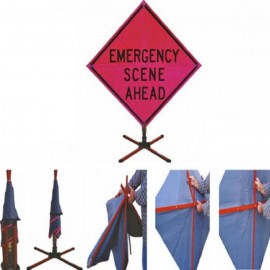 Vizcon Slide-n-Store Sign System, Emergency Scene Ahead