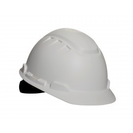 3M™ Elevated Temperature Hard Hat, White 4-Point Ratchet Suspension H-701T, 10 ea/cs