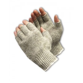 Seamless Knit Ragwool Glove - Half Finger (LARGE)