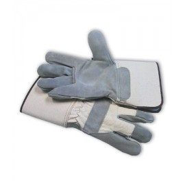 "PIP ""A"" Grade Shoulder Split Leather Glove - Rubberized Safety Cuff"