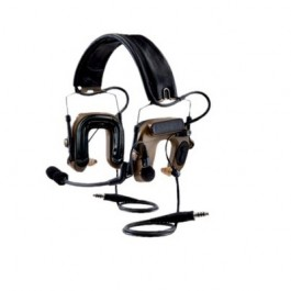 3M™ PELTOR™ ComTac™ IV Hybrid Communication Headset, Dual Comm, Flexi Boom Mic, MT16H044FB-19 CY Coyote Brown 1 EA/Case