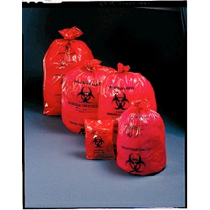 Biohazard Red Bag 17x18 4to6 Gallon B100