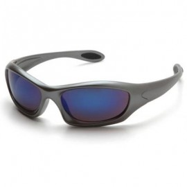 Zone III Safety Glasses - Ice Blue Mirror Lens with Gun Metal Frame