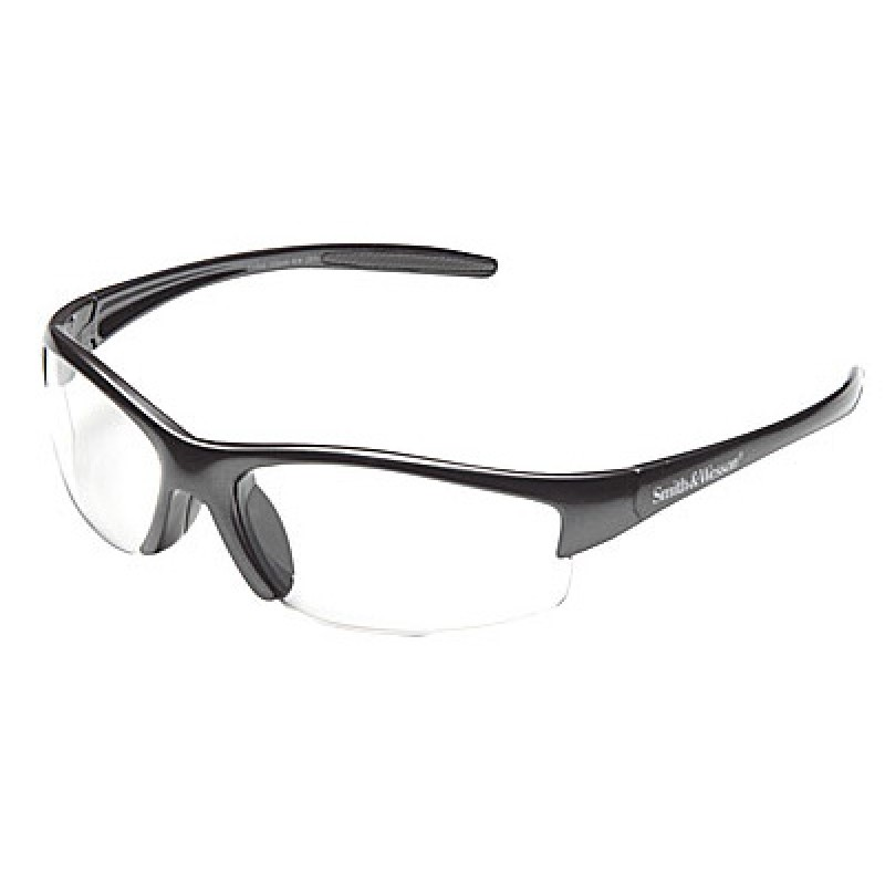 Jackson Safety Smith and Wesson Equalizer Safety Glasses with Gun Metal Frame and Clear Lens 12 Pairs