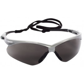 Jackson Safety Nemesis Safety Glasses, Smoke Anti-Fog Lenses with Silver Frame, 12/BX