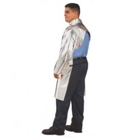 "17oz Aluminized Carbon Kevlar® 40"" Coat with Open Back"