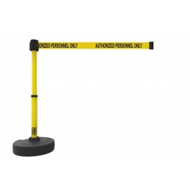"Banner Stakes PL4087 PLUS Barrier Set, Yellow ""Authorized Personnel Only"""