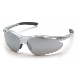 Pyramex  Fortress  Silver Frame/Silver Mirror Lens  Safety Glasses  12/BX
