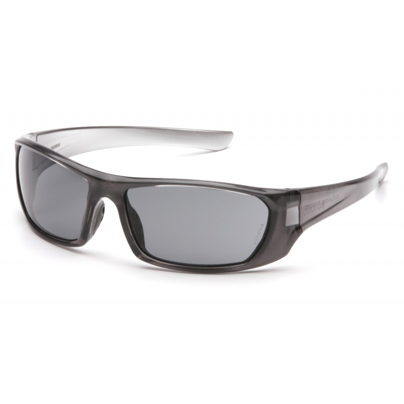 Pyramex Safety - Outlander - Nickel Frame/Gray Lens Polycarbonate Safety Glasses - 12 / BX