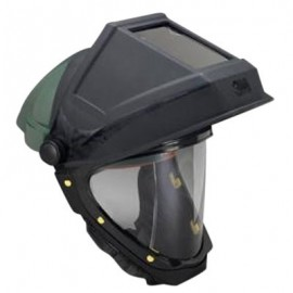 3M Hardhat L-705 with Welding Shield and Wide-view Faceshield
