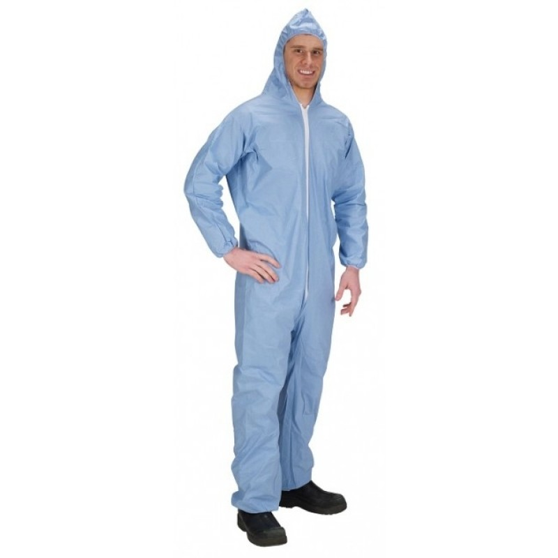 Lakeland 07428B Pyrolon Plus 2 Disposable Coveralls Attached Hood  Elastic Wrists and Ankles (25 Per Case)