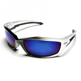Edge Kazbek Safety Glasses - Blue Mirror Lens