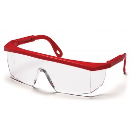 Pyramex  Integra  Red Frame/Clear Lens  Safety Glasses  12/BX