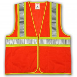 Tingley V70649.S-M Class 2 Vest Fluorescent Orange-Red Polyester Mesh Zipper