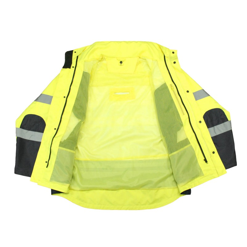 Radians 3-in-1 High Visibility Weatherproof Parka - Inside