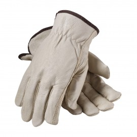 Premium Grade Top Grain Leather with Red Thermal Lined Glove - Keystone Thumb