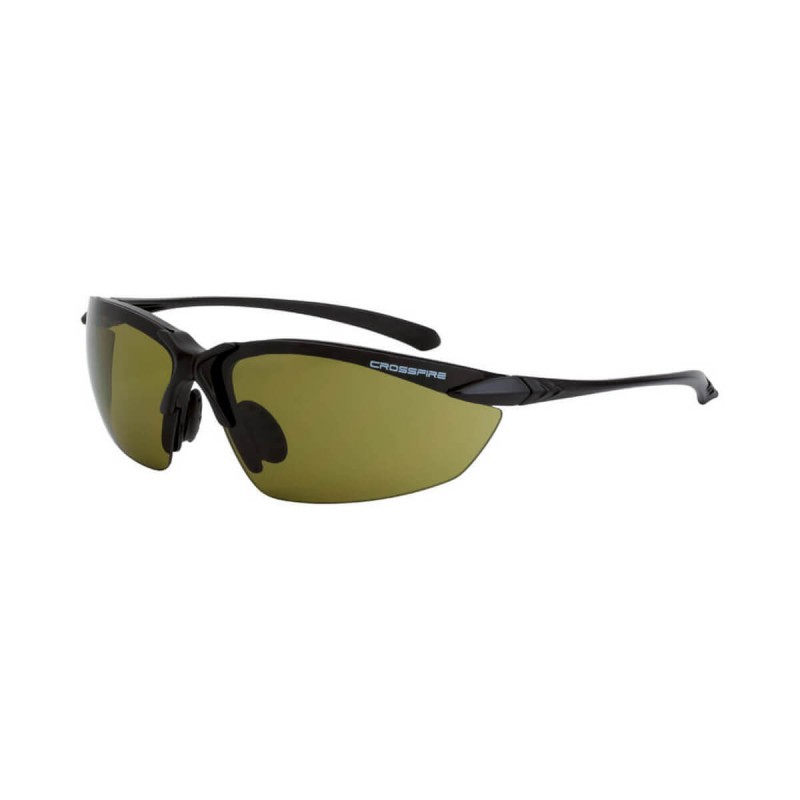 Radians Sniper HD green Matte Black Frame Safety Glasses 12 PR/Box