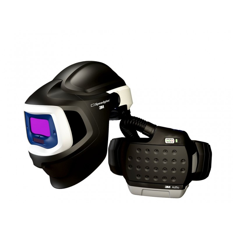 3M™ Adflo™ PAPR with 3M™ Speedglas™ Welding Helmet 9100MP, 37-1101-10SW, HE, Li Ion Battery, Hard Hat, ADF 9100V