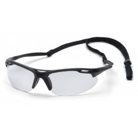 Pyramex  Avante  Black Frame/Clear Lens with Cord  Safety Glasses  12/BX