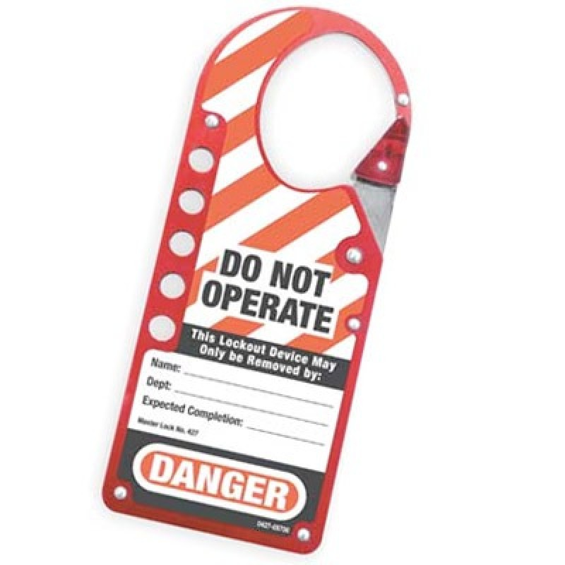 Masterlock 427 Red Labeled Snap-On Hasp