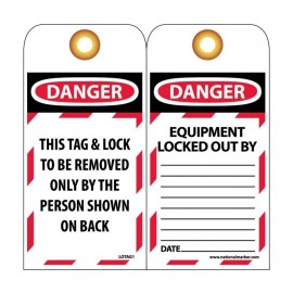 NMC LOTAG1 Danger This Tag & Lock To Be Removed Only Bag By Tag 10/Pack