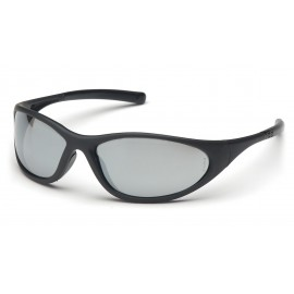 Pyramex Safety - Zone II - Matte Black Frame/Silver Mirror Lens Polycarbonate Safety Glasses - 12 / BX