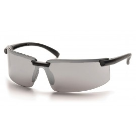 Pyramex Safety - Surveyor - Black Frame/Silver Mirror Lens Polycarbonate Safety Glasses - 12 / BX