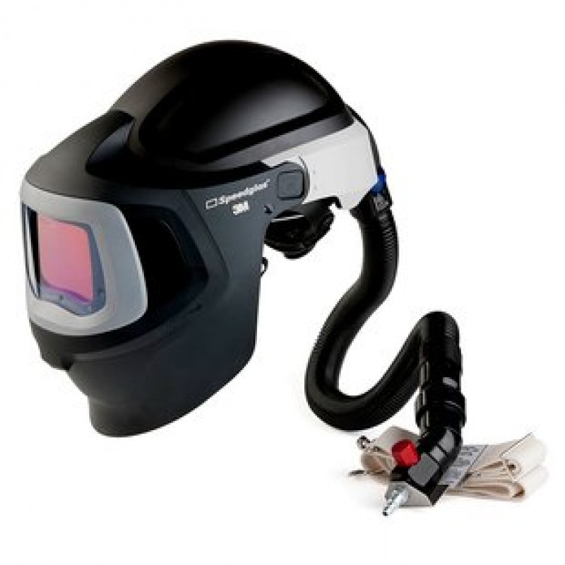 3M™ Speedglas™ Fresh-Air III Supplied Air System with V-300 Air-Regulating Valve and 3M™ Speedglas™ Welding Helmet 9100MP, 27-5902-30SW, with Hard Hat, SideWindows and Auto-Darkening Filter 9100XX, Shades 5, 8-13