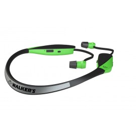 Walker's Hearing GP-SF-NHE-HVG Razor X Neck Hearing Enhancement - Retractable Ear Buds - High Visibility Green