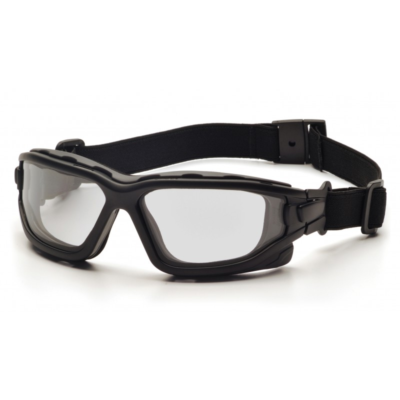 Pyramex Safety - I-Force Slim - Black Strap-Temples/Clear Anti-Fog Lens Polycarbonate Safety Glasses - 12 / BX