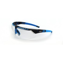 Honeywell S2870HS Uvex Avatar Blue/Black Frame Clear Lens Hydroshield Anti-Fog Coating 10/Box