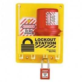 Masterlock Compact Lockout Center with Electrical plug lockout
